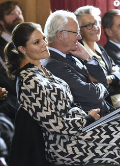 King Carl Gustaf and Crown Princess Victoria attended the World Wide Fund (WWF) for Nature's autumn meeting held at the Ulriksdal in Stockholm on October 14, 2015.