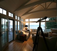 Beams and windows. All ready for sunset.