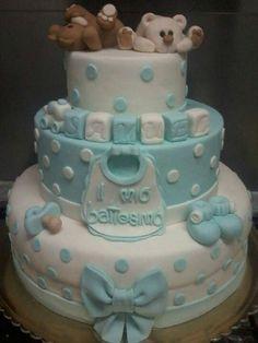 Torta battesimo bimbo orsetti