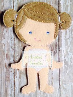 Emma Felt Doll by NettiesNeedlesToo on Etsy, $7.00