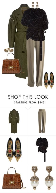 """""""Untitled #370"""" by nc-young ❤ liked on Polyvore featuring Mother of Pearl, Jason Wu, Dolce&Gabbana, A.W.A.K.E., Gucci and Stella & Dot"""