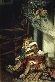"""Lizzie Mack - """"Children dreaming of toys"""", 1886"""