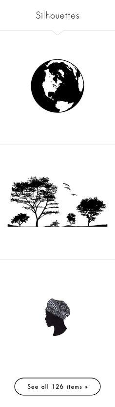 """""""Silhouettes"""" by hollyjo ❤ liked on Polyvore featuring home, home decor, silhouette wall art, backgrounds, cities, colorblock, hex_ffffff, black and white, trees and bird"""