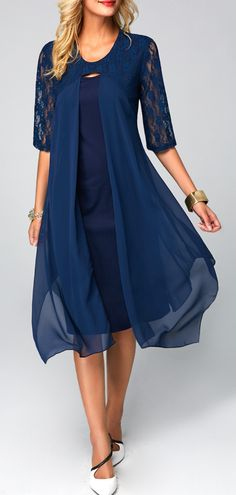 Waiting for the fall coming,shopping beautiful new clothing. Elegant Dresses, Beautiful Dresses, Casual Dresses, Fashion Dresses, Mother Of Groom Dresses, Mothers Dresses, Half Sleeve Dresses, Dresses With Sleeves, Half Sleeves