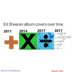 Funny Meme About Ed Sheeran's Albums