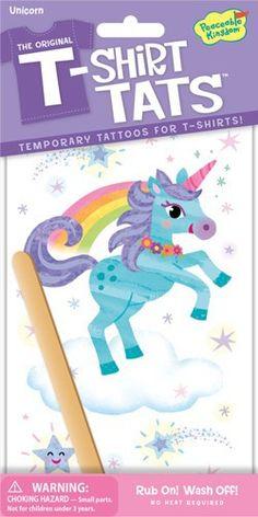 PEACEABLE KINGDOM T-Shirt Tattoo Textil Tattoo Einhorn - lohnende Bonuspunkte sammeln, auf Rechnung bestellen, DHL Blitzlieferung!