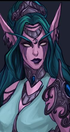 Tyrande for Character Age meme Race Night, Night Elf, Warcraft 3, World Of Warcraft, Heroes Of The Storm, Dark Elf, Fan Art, Drawing Practice, Starcraft