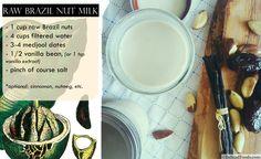 DIY: Nut Milks Made Simple (vegan-friendly, gluten-free, and dairy-free as well)  A recipe for Raw Brazil Nut Milk