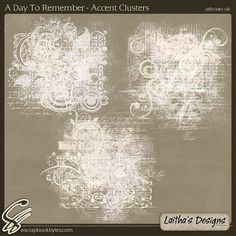 A Day To Remember - Accent Clusters :: Mixed Element Packs :: Embellishments :: SCRAPBOOK-BYTES