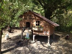 Upcycled pallet hen house