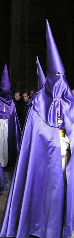"""""""Capuchones"""" Commemoration of the Passion of Jesus Christ ( Catholic Church)  in the Holy Week - Brotherhoods & Fraternities- Seville - Andalucia   Spain"""