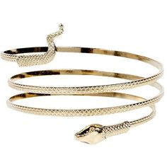 Boohoo Elvie Snake Arm Cuff (14 AUD) ❤ liked on Polyvore featuring jewelry, bracelets, braceletes, snake jewelry, arm cuff jewelry, snake coil bracelet, bracelet jewelry and bracelet bangle