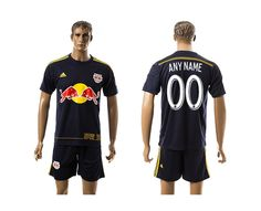 2015-2016 New York Red Customized Bulls Away Soccer Jersey