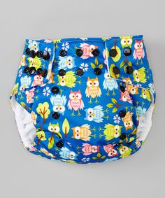 Loving this Lotus Bumz Blue Owl Pocket Diaper - Infant on #zulily! #zulilyfinds