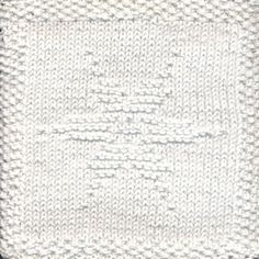 Snowflake Knit Dishcloth Pattern  Let it snow! This knit dishcloth pattern is of a beautiful six pointed snowflake.