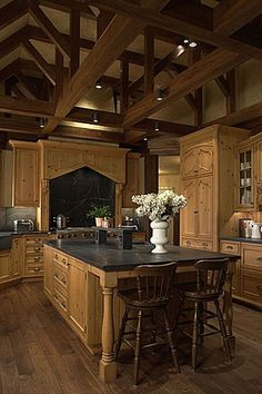 I've always loved big, roomy kitchens... more space for the family to hang out while you're cooking and baking :)