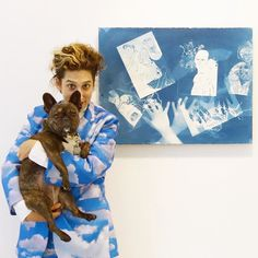#TBT to my new best friend! . Ofri Cnaani Blue Print (OC real and fake hands) #1 2015 in Wrong Tools at Andrea Meislin Gallery.  September 17 - October 24 2015  To see more photos from this exhibition visit ArtBlogDogBlog.com! #PickleBeholding #PickleDog #Sponsored @meislingallery @ofricnaani by picklebeholding