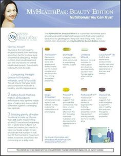Create a CUSTOM supplement health pack for your skin! http://exhale21.usana.com