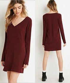 Sexy V-neck knit dress  L915084