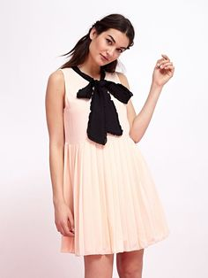 Pink Sands Pleated Dress
