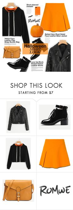 """Halloween night look #Romwe VII"" by juhh ❤ liked on Polyvore featuring Arthur Arbesser, Cuero and Case Scenario"