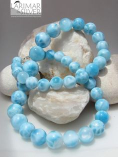 Larimar... found only in the Dominican Republic, truly Caribbean blue. Love.