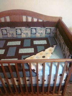 Baby Elephant Crib Set