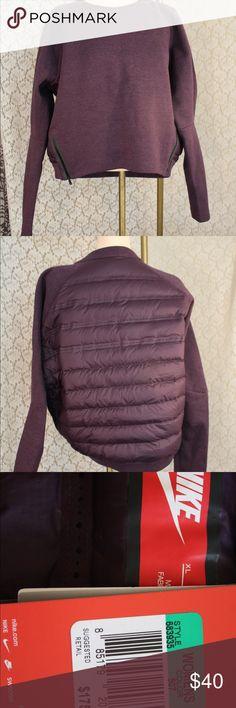 Nike sweatshirt with puffer back Nike sweatshirt  -puffer back -Women's -purple -new with tags -size XL Nike Tops Sweatshirts & Hoodies