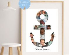 Personalised Anchor Photo Collage Art Gift Idea for Baby. Great keepsake and momentum of those special baby moments. Handmade Home Decor, Etsy Handmade, Handmade Gifts, New Baby Gifts, Gifts For Kids, Collage Art, Collage Design, Etsy Shop Names, Selling Handmade Items