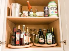 Lazy susans for the win! These are the best for organizing your oils & vinegars and other sauces. You can put them in a cabinet or even have them out on the counter. ⠀ ⠀ ⠀ ⠀ #organizedpantry #pantrygoals #neatissmart #uncomplicated #organizingtips #organizedhome #homeorganization #atlantahomeorganizer #professionalorganizer Pantry Organization, Organizing, Atlanta Homes, Bathroom Medicine Cabinet, Vinegar, Lazy, Sauces, Counter, Good Things