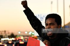Charles Watkins 34 of Denver makes his voice heard with Padres & Jóvenes Unidos as they held a Trump protest rally along Federal Blvd and 5th at East Barnum Park in Denver,CO November 09, 2016.