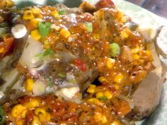 Baked Potato with Ring Tum Ditty recipe from Paula Deen via Food Network Salad Recipes Video, Easy Soup Recipes, Casserole Recipes, Hellmans Recipes, Potato Corn Chowder, Paula Deen, Vintage Recipes, Vegetable Recipes, Food Network Recipes