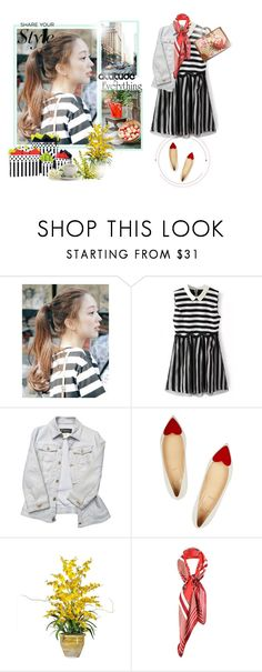 """""""○♥○"""" by yanimj503 ❤ liked on Polyvore featuring pinkage, Versace, Christian Louboutin, Burke Decor, Paul Smith and Gucci"""