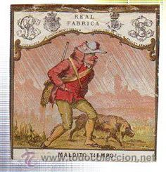 MARQUILLA.VISTA.BOFETON DE TABACO SIGLO XIX 1865 CUBA (Coleccionismos - Paquetes de tabaco)