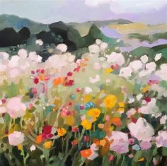 """Daily Paintworks - """"Miles Away"""" - Original Fine Art for Sale - © Libby Anderson"""