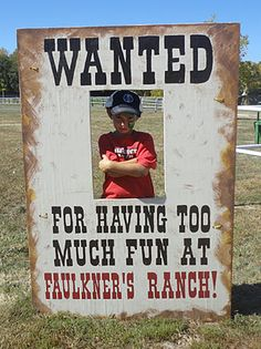 Faulkner& Ranch: Wanted! Faulkners Ranch rents decorations out.this is where we rented the cow milking thing a few years ago Country Western Parties, Country Fair, Western Party Games, Cowgirl Birthday, Cowgirl Party, Horse Birthday, Pirate Party, Cowboy Theme, Western Theme