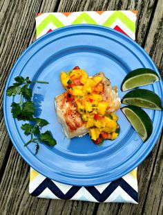 Baked Cod with Mango Salsa - Chocolate Slopes