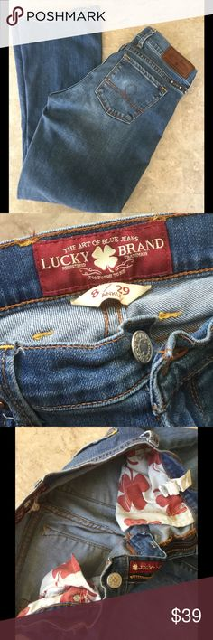 LUCKY BRAND JEANS 8/29 ankle Great condition, no rips or stains. Lucky Brand Jeans Boot Cut