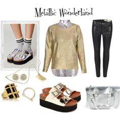 """Metallic Wonderland"" by mtngusa on Polyvore"