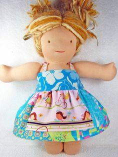 Waldorf doll dress  made to match Matilda by mylittlepoppyseed, $23.50