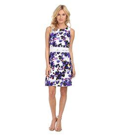 kensie Pretty Painting Dress in Imperial Purple