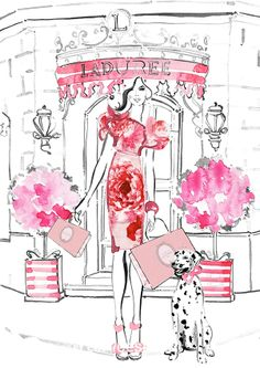 Laduree shop illustration.