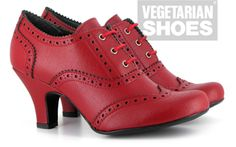 23279d3bd76c Veganer Women s Shoe - Vegetarian Shoes Ashley Shoe Red Elegant heeled shoe  made from red synthetic leather.