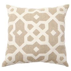 I pinned this Provence Tile Pillow from the Griffin Design Source event at Joss and Main! The gorgeous Provence Tile Pillow brings rustic-chic style to your bed, sofa, or breakfast nook bench. Finished in warm tones of beige and white, this plush throw showcases a flowing tile motif and sumptuous down and feather fill.