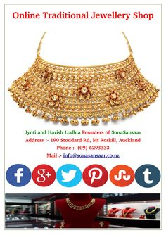 Buy latest #jewellery #online from SonaSansaar. We offer wide range of #traditional #Indian #jewellery. We have two physical #stores in #Auckland. Our goal is to provide our customer satisfaction.