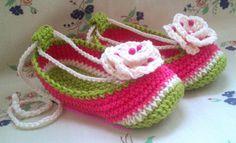 Crochet Slippers watermelon