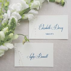 Classic green and white. The question is do you choose place cards escort cards or both?
