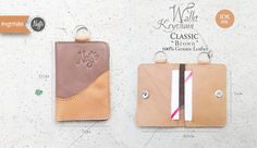 """Wallet keychain """"classic"""" Brown Leather"""