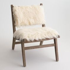 Must have for the Guest Room!Ivory Faux Flokati Gunnar Chair