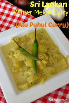 Alu Puhul as we call in Sri Lanka or Winter Melon/Ash gourd in English is a fruit /vegetable gives delicious curry when we cook it with Sri Lankan spices. Melon Recipes, Curry Recipes, Asian Vegetables, Veggies, Sri Lankan Curry, Winter Melon, Sri Lankan Recipes, Chinese Food, Grain Free